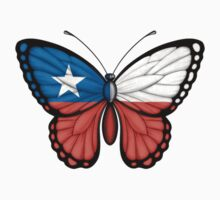 Chilean Flag Butterfly Kids Clothes
