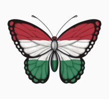 Hungarian Flag Butterfly Kids Clothes