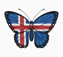 Icelandic Flag Butterfly Kids Clothes