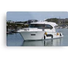 A smart Cruiser coming to dock.  Marina, Robe. Sth. Australia. Metal Print