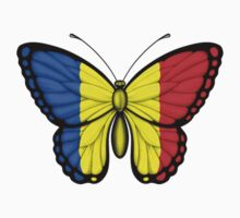 Romanian Flag Butterfly Kids Clothes