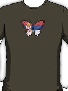 Serbian Flag Butterfly T-Shirt