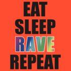 Eat sleep rave repeat by cosimacrazy