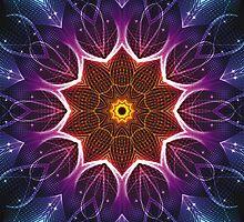 Light Kaleidoscope Throw Pillow 02 2014 by fantasytripp