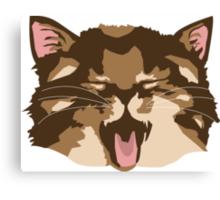 Meowing Kitten Canvas Print