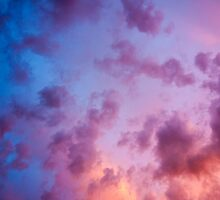 colorful clouds during  sunset over Holland by stresskiller