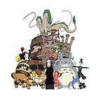 Ghibli Party Pillow by countthewolves