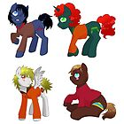 South Park Ponies by linamomokoart
