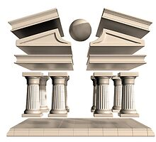 Deconstructed Greek Temple by Paul Fleet