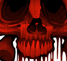 Skull and Xbones in Red Sticker