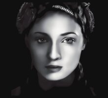 Sophie Turner as Sansa Stark in Game of Thrones Digital Art Clothing by David Alexander Elder
