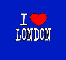 I Love London by bubbliciousart