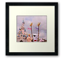 Sleeping Beauty's Castle With Mary and Bert Framed Print