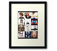 Kylie - studio albums poster Framed Print
