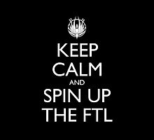 Keep Calm and Spin Up the FTL Pillow (black) by olmosperfect