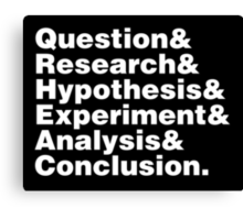 Scientific Method Helvetica Canvas Print