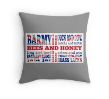 Union Jack, Cockney Rhyming Slang Throw Pillow