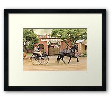 Friesian Folly Framed Print
