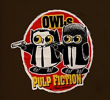 Owls Pulp Fiction by limeart