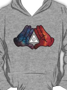 Mickey Mouse Diamond Hands Blue/Red Space (illuminati) T-Shirt