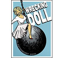 Wrecking Doll (blue) Photographic Print