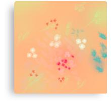 Floral life explosion - peach Canvas Print