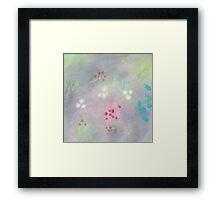 Floral life explosion - grey Framed Print