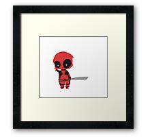 Chibi Deadpool Framed Print