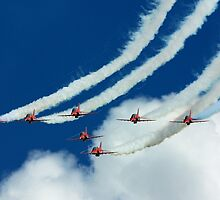 The Red Arrows at RAF Waddington International Airshow by John Marshall