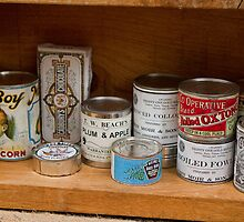 Vintage tins at the RHS Chelsea Flower Show Birmingham City by Keith Larby