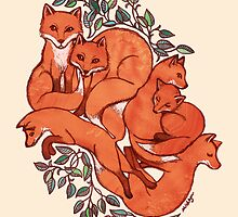 Fox Tangle by micklyn