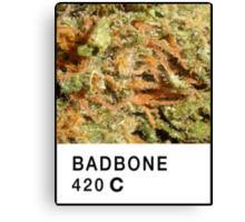Bad Bone (Pantone) Weed 420 Canvas Print
