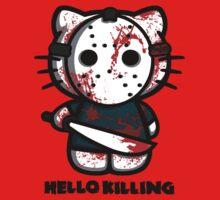T-shirt parody HELLO kitty KILLING by KokoBlacksquare