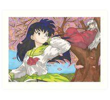 Inuyasha and Kagome 2 Art Print