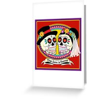 Los Novios (English) Greeting Card