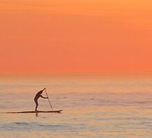 Sunset surfer by Lee Jones