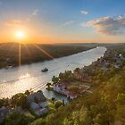 Austin Texas Images - Late May Sunset over Mount Bonnell 1 by RobGreebonPhoto