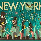 WILD NEW YORK by JazzberryBlue