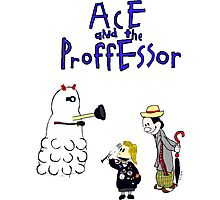 Ace and the Professor Photographic Print