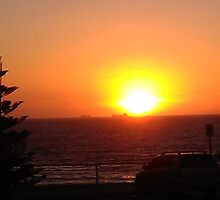 Cottesloe Beach at sunset...Western Australia. by Cazbeth