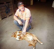 *Farmer and his dog* - Donegan's Farm- Gordon Vic.  by EdsMum