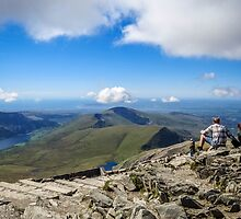 View from the top of Mount Snowdon,North Wales by Sue Knight