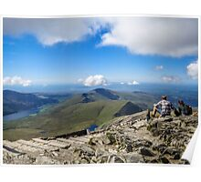 View from the top of Mount Snowdon,North Wales Poster