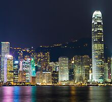 Hong Kong by Night  by Shaun Jeffers Photography