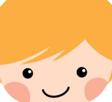 World's best little sister, sticker with blond cartoon girl Sticker