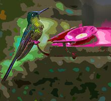 Mindo Hummer Art by Al Bourassa