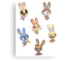 Animal Crossing - Bunny Set 1 Metal Print