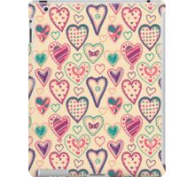 Girly Heart Doodle  iPad Case/Skin