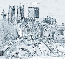 York, in pen and ink by Robert Gipson