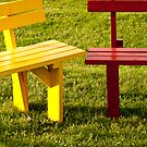 Colorful Benches by Rae Tucker